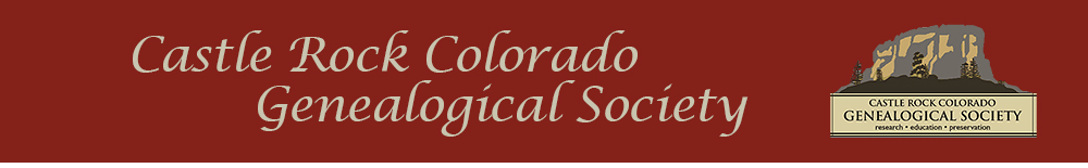 Castle Rock Colorado Genealogical Society